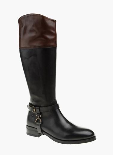 George Hogg %100 Deri Çizme Siyah